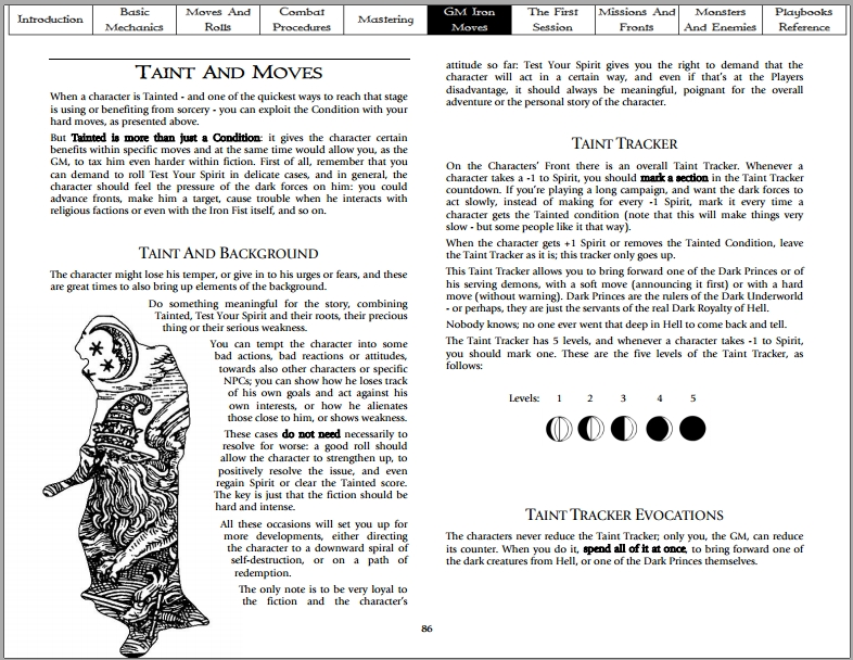 Two pages from the City of Judas manual « DaimonGames : yet another